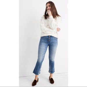 Madewell Cali Demi-Boot Button Front Jeans 25